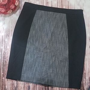 Halogen color block black and gray pencil skirt